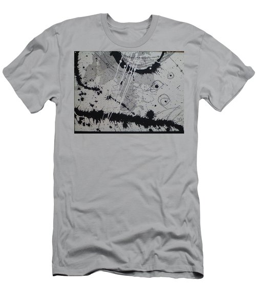 Black And White Four Men's T-Shirt (Slim Fit) by Tracy Bonin