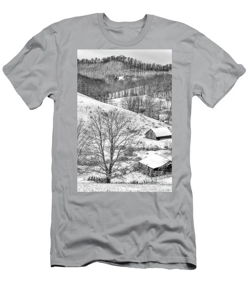 Black And White In Winter Men's T-Shirt (Athletic Fit)