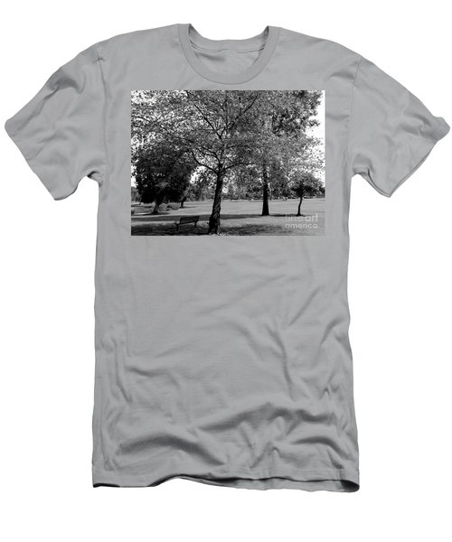Black And White Nature Men's T-Shirt (Athletic Fit)
