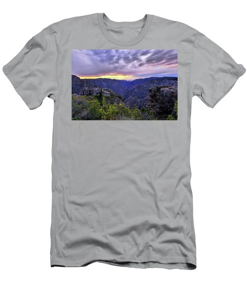 Black Canyon Sunset Men's T-Shirt (Athletic Fit)