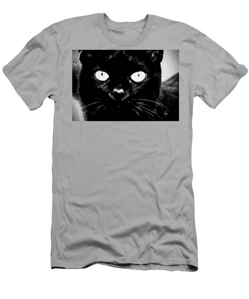 Black Cat Men's T-Shirt (Slim Fit) by Gina O'Brien