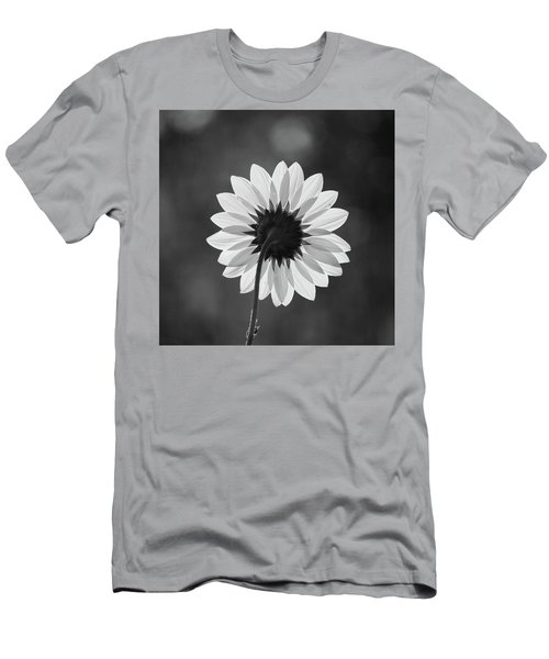 Black-eyed Susan - Black And White Men's T-Shirt (Athletic Fit)