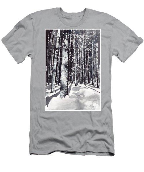 Black Forest Watercolor Men's T-Shirt (Athletic Fit)
