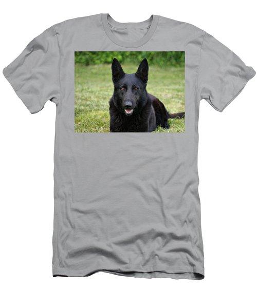 Black German Shepherd Dog II Men's T-Shirt (Athletic Fit)