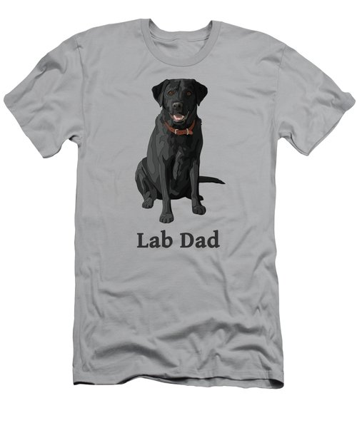 Black Labrador Retriever Lab Dad Men's T-Shirt (Athletic Fit)
