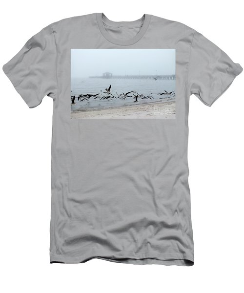 Black Skimmers - Biloxi Mississippi Men's T-Shirt (Slim Fit) by Scott Cameron