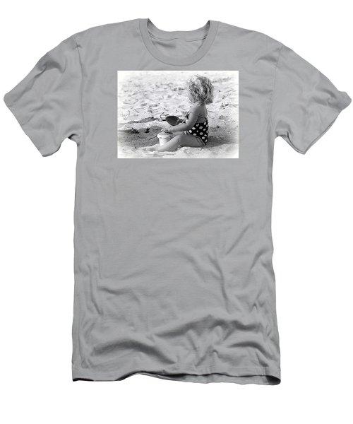 Blond Beach Baby Men's T-Shirt (Slim Fit) by Lori Seaman