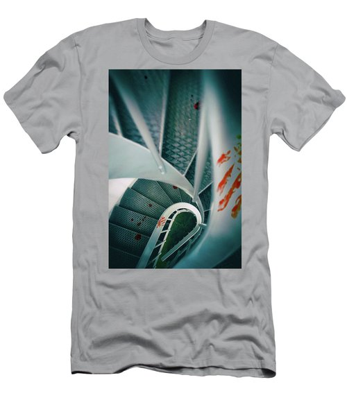 Men's T-Shirt (Slim Fit) featuring the photograph Bloody Stairway by Carlos Caetano