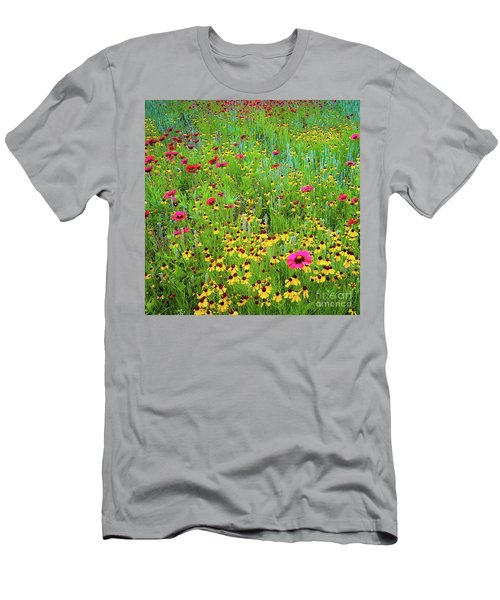Blooming Wildflowers Men's T-Shirt (Athletic Fit)