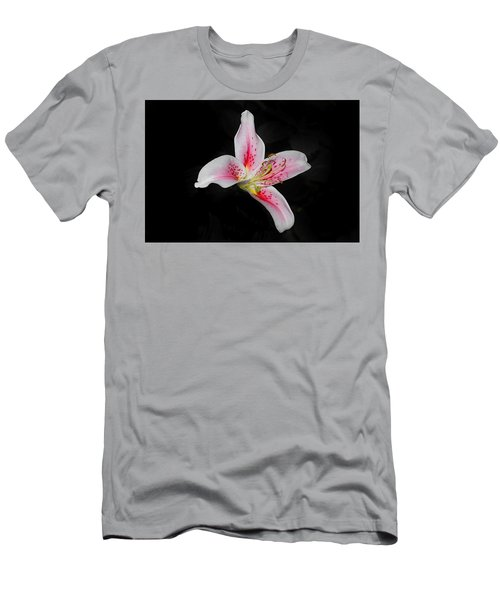 Blossom On Black Men's T-Shirt (Athletic Fit)
