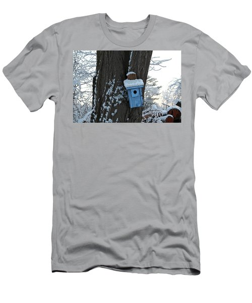 Blue Birdhouse Men's T-Shirt (Athletic Fit)