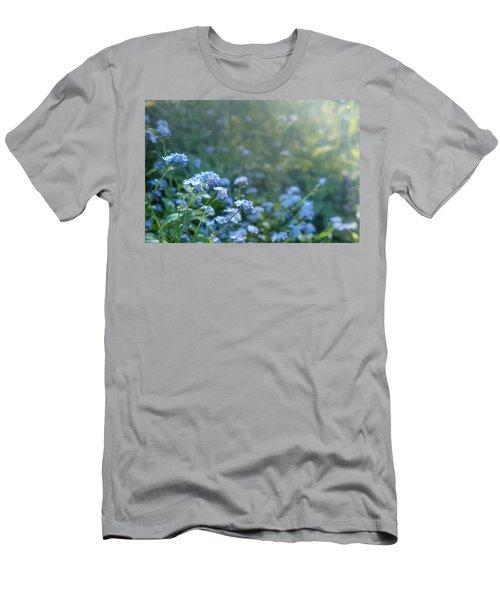 Blue Blooms Men's T-Shirt (Athletic Fit)