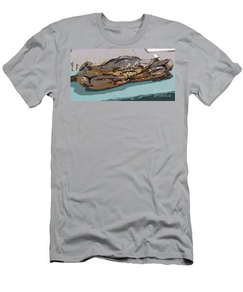 Blue Crab Cartoon Men's T-Shirt (Athletic Fit)