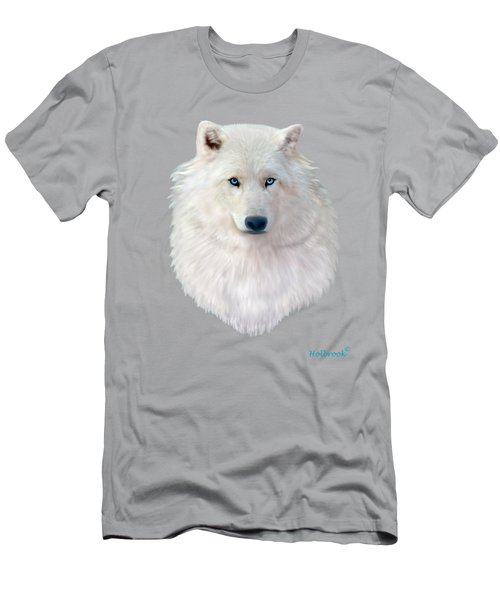 Blue-eyed Snow Wolf Men's T-Shirt (Athletic Fit)
