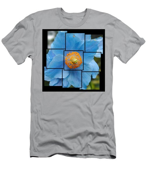 Blue Flower Photo Sculpture  Butchart Gardens  Victoria Bc Canada Men's T-Shirt (Athletic Fit)