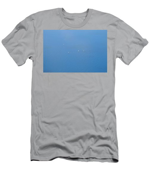 Men's T-Shirt (Athletic Fit) featuring the photograph Blue Four by August Timmermans