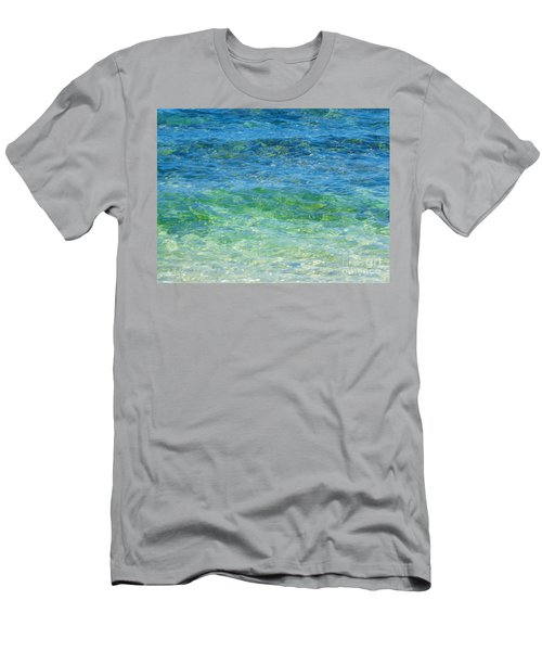 Blue Green Waves Men's T-Shirt (Athletic Fit)