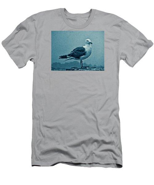 Blue Gull Men's T-Shirt (Slim Fit) by Douglas MooreZart