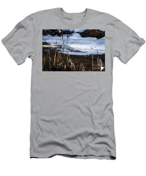 Men's T-Shirt (Slim Fit) featuring the photograph Blue Heron by Jim  Hatch