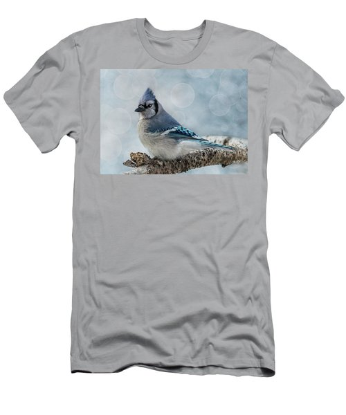 Blue Jay Perch Men's T-Shirt (Athletic Fit)