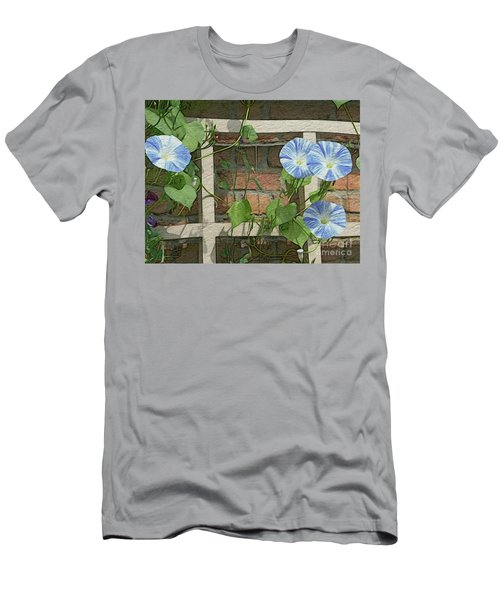 Blue Morning Glories Men's T-Shirt (Athletic Fit)