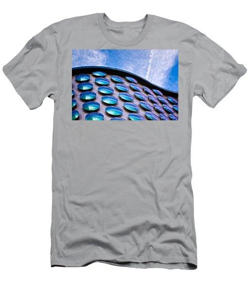 Blue Polka-dot Wave Men's T-Shirt (Athletic Fit)