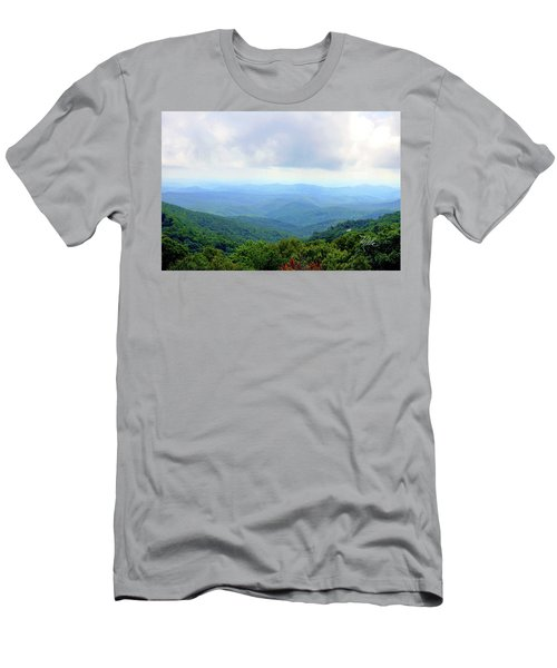 Blue Ridge Parkway Overlook Men's T-Shirt (Athletic Fit)