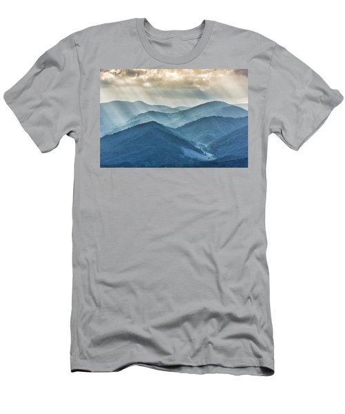 Blue Ridge Sunset Rays Men's T-Shirt (Athletic Fit)