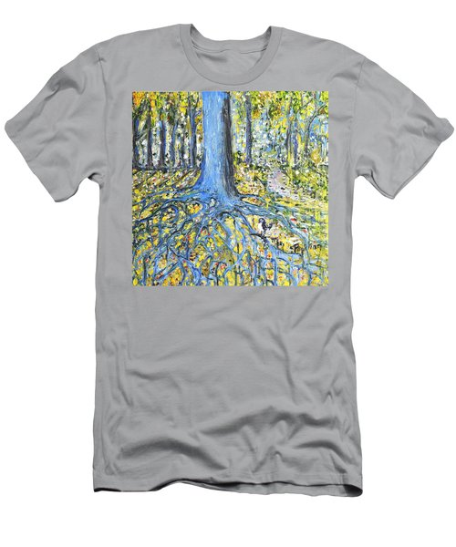Blue Roots Men's T-Shirt (Slim Fit) by Evelina Popilian