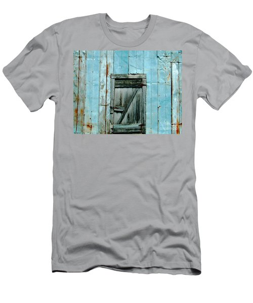 Blue Shed Door  Hwy 61 Mississippi Men's T-Shirt (Athletic Fit)