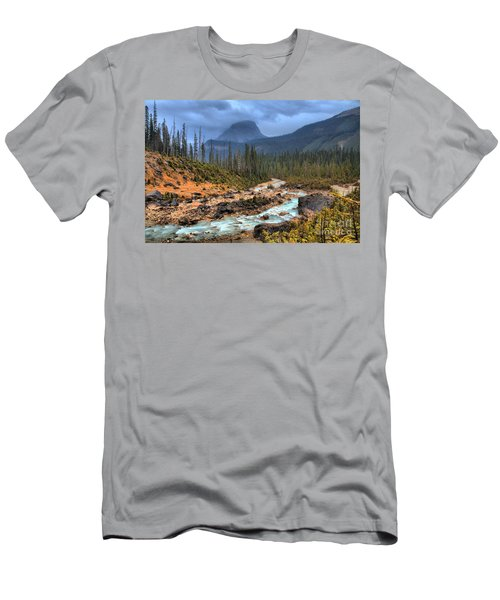 Men's T-Shirt (Slim Fit) featuring the photograph Blue Through The Yoho Valley by Adam Jewell