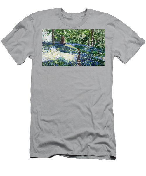 Bluebell Forest Men's T-Shirt (Slim Fit) by Joanne Perkins