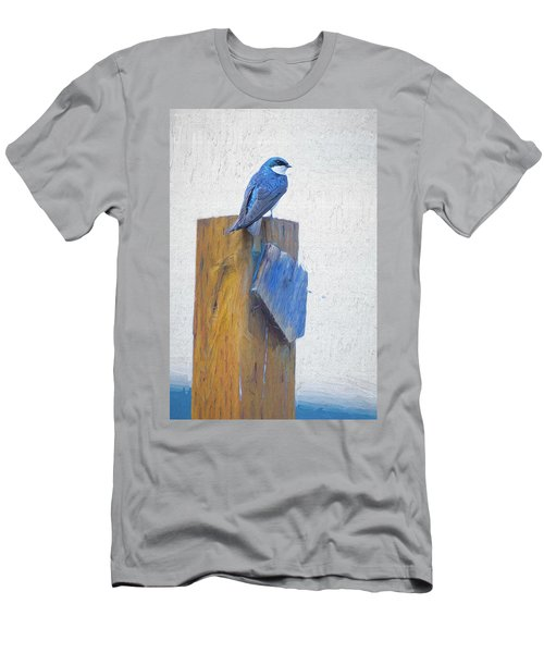 Men's T-Shirt (Athletic Fit) featuring the photograph Bluebird by James BO Insogna