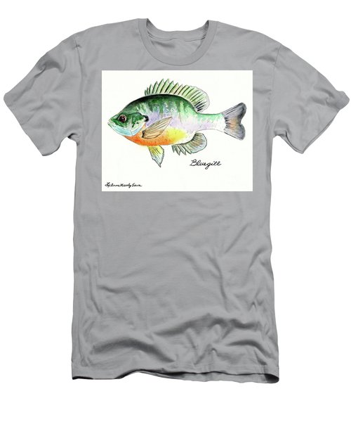 Bluegill Fish Men's T-Shirt (Slim Fit) by LeAnne Sowa