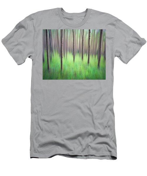 Blurred Aspen Trees Men's T-Shirt (Athletic Fit)