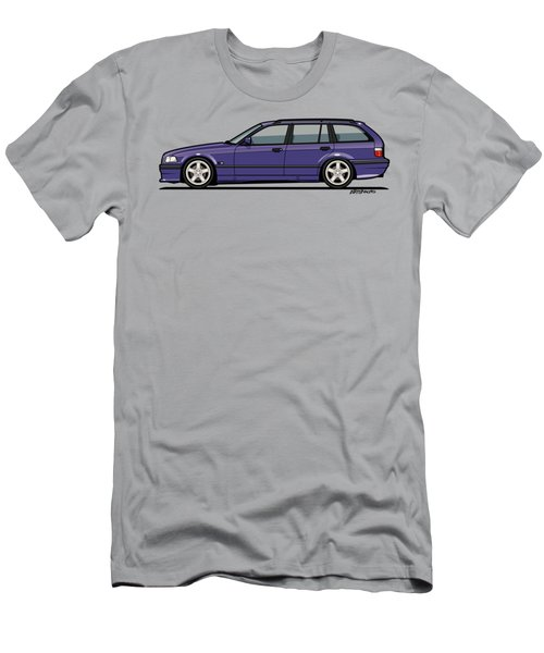 Bmw E36 328i 3-series Touring Wagon Techno Violet Men's T-Shirt (Athletic Fit)