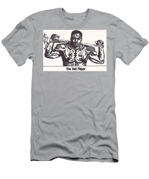 Bo Jackson The Ball Player Men's T-Shirt (Slim Fit) by Jeremiah Colley