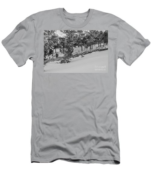 Men's T-Shirt (Slim Fit) featuring the photograph Boardwalk Climbing A Hill by Sue Smith