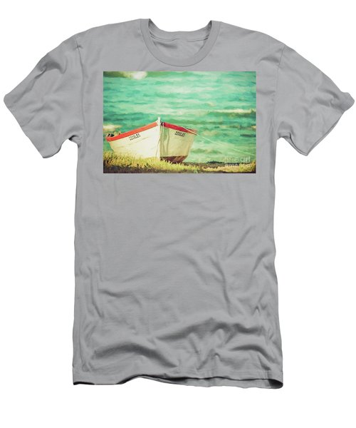 Boat On The Shore Men's T-Shirt (Athletic Fit)