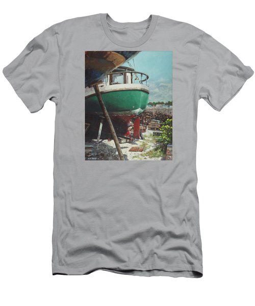 Boat Yard Boat 01 Men's T-Shirt (Slim Fit) by Martin Davey