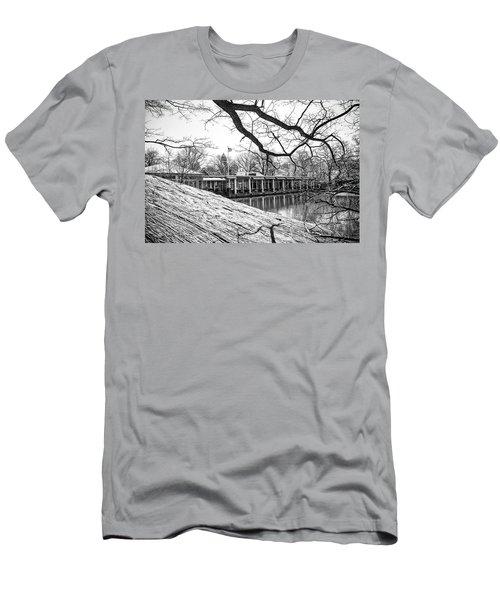 Boathouse Central Park Men's T-Shirt (Slim Fit) by Alan Raasch