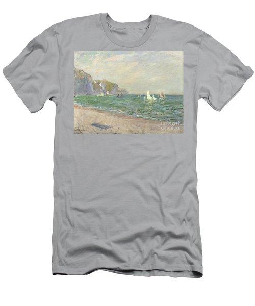 Boats Below The Cliffs At Pourville Men's T-Shirt (Athletic Fit)