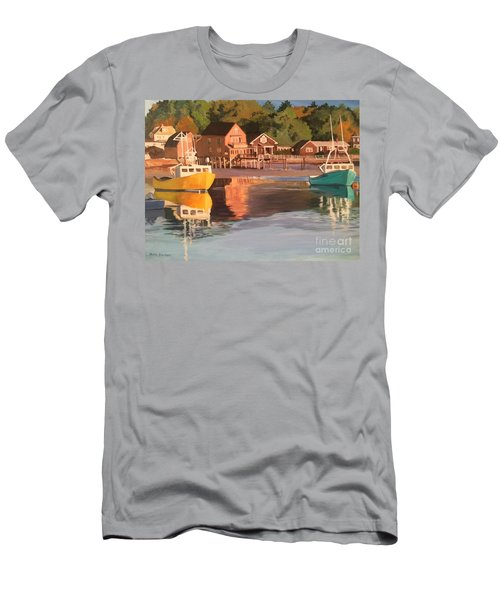 Boats In Kennebunkport Harbor Men's T-Shirt (Athletic Fit)