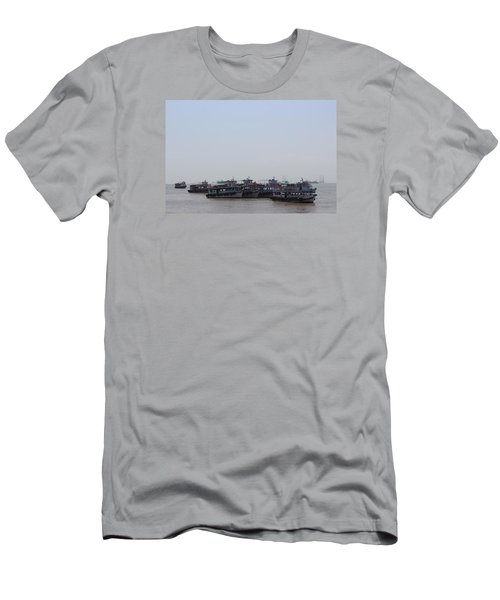 Boats On The Indian Ocean In The Haze Men's T-Shirt (Slim Fit) by Jennifer Mazzucco