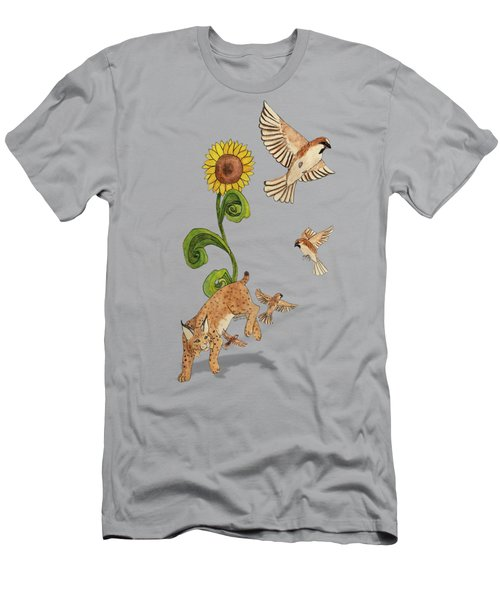Bobcats And Beeswax Men's T-Shirt (Slim Fit) by Teighlor Chaney