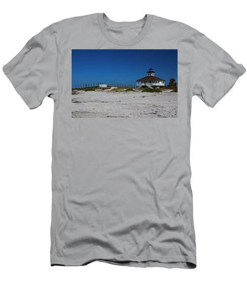 Men's T-Shirt (Athletic Fit) featuring the photograph Boca Grande Lighthouse Ix by Michiale Schneider
