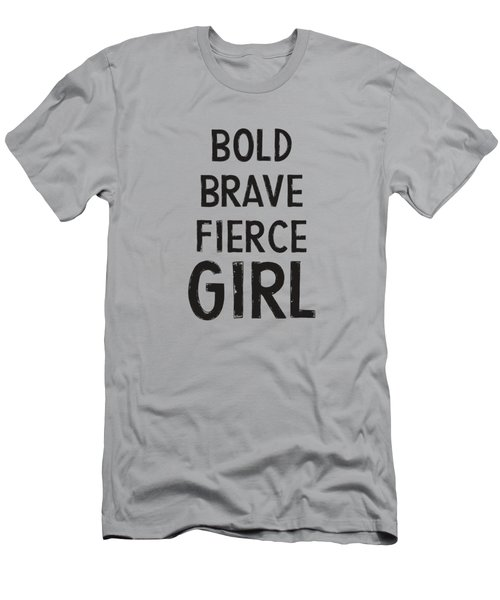 Bold Brave Fierce Girl- Art By Linda Woods Men's T-Shirt (Athletic Fit)