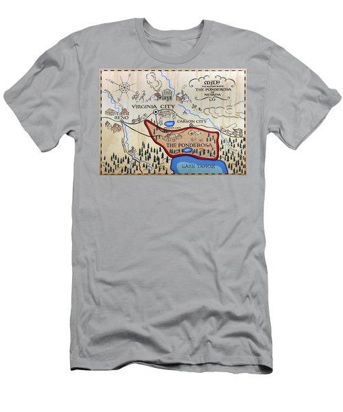 Bonanza Series Ponderosa Map  1959 Men's T-Shirt (Athletic Fit)