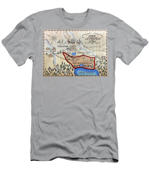 Bonanza Series Ponderosa Map  1959 Men's T-Shirt (Athletic Fit)