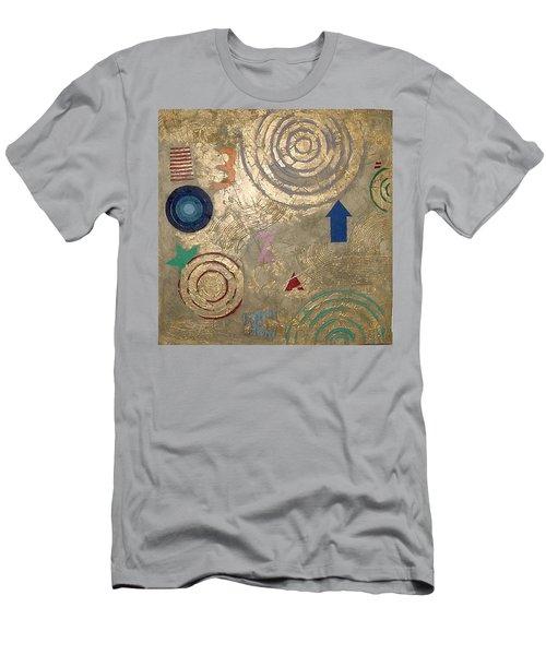 Men's T-Shirt (Slim Fit) featuring the painting Boogie 3 by Bernard Goodman